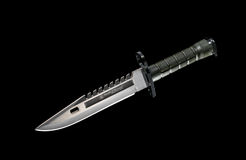 Μαύρο στρατιωτικό μαχαίρι Στοκ Εικόνα