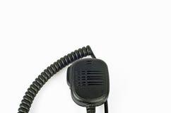 Μαύρο συμπαγές επαγγελματικό φορητό ραδιο σύνολο. Στοκ φωτογραφία με δικαίωμα ελεύθερης χρήσης