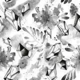 Μαύρο συρμένο χέρι άνευ ραφής σχέδιο δερματοστιξιών μελανιού στοκ φωτογραφία με δικαίωμα ελεύθερης χρήσης