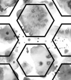 Μαύρο συρμένο χέρι άνευ ραφής σχέδιο μελανιού στοκ φωτογραφία