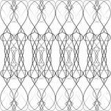 Μαύρο σχέδιο άνευ ραφής, πλαίσιο με τις καρδιές Στοκ εικόνες με δικαίωμα ελεύθερης χρήσης