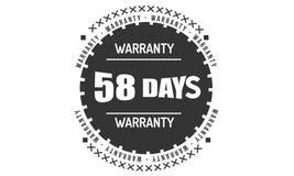 μαύρο σχέδιο απεικόνισης εξουσιοδότησης 58 ημερών διανυσματική απεικόνιση