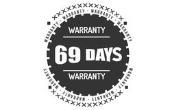 μαύρο σχέδιο απεικόνισης εξουσιοδότησης 69 ημερών ελεύθερη απεικόνιση δικαιώματος