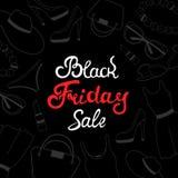 Μαύρο σχέδιο καρτών πώλησης Παρασκευής Women&#x27 ιματισμός και εξαρτήματα του s ελεύθερη απεικόνιση δικαιώματος