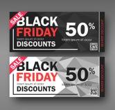 Μαύρο σχέδιο πώλησης Παρασκευής εννοιολογικό δελτίο Στοκ Εικόνες