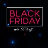 Μαύρο σχέδιο αφισών πώλησης Παρασκευής Στοκ Εικόνες
