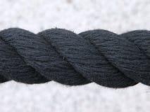 μαύρο σχοινί Στοκ Φωτογραφίες