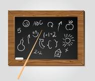 μαύρο σχολείο δεικτών κιμωλίας χαρτονιών διανυσματική απεικόνιση