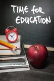 μαύρο σχολείο έννοιας βιβλίων ανασκόπησης copyspace Στοκ Φωτογραφία