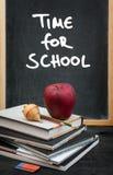 μαύρο σχολείο έννοιας βιβλίων ανασκόπησης copyspace Στοκ εικόνα με δικαίωμα ελεύθερης χρήσης