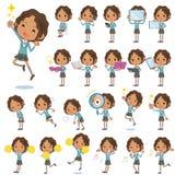 Μαύρο σχολικό κορίτσι 2 Στοκ εικόνες με δικαίωμα ελεύθερης χρήσης