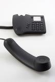 μαύρο σύγχρονο τηλέφωνο Στοκ Εικόνα