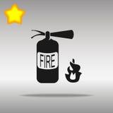 Μαύρο σύμβολο λογότυπων κουμπιών εικονιδίων πυροσβεστήρων Στοκ Εικόνα