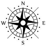 Μαύρο σύμβολο πυξίδων Στοκ εικόνα με δικαίωμα ελεύθερης χρήσης
