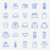 Μαύρο σύνολο εικονιδίων αγορών μόδας υφασμάτων Παρασκευής ελεύθερη απεικόνιση δικαιώματος