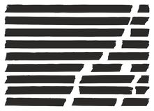 Μαύρο σύνολο 02 καλύπτοντας ταινιών Στοκ φωτογραφίες με δικαίωμα ελεύθερης χρήσης
