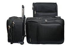 Μαύρο σύνολο αποσκευών ταξιδιού Στοκ Εικόνες