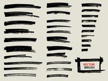 Μαύρο σύνολο κτυπήματος βουρτσών δεικτών ελεύθερη απεικόνιση δικαιώματος