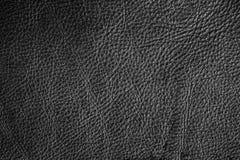 Μαύρο σύσταση δέρματος ή υπόβαθρο δέρματος για το σχέδιο με το αντίγραφο Στοκ Εικόνα