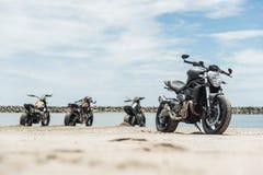 Μαύρο τέρας 821 Ducati μεταλλινών Στοκ φωτογραφία με δικαίωμα ελεύθερης χρήσης