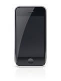Μαύρο τηλέφωνο κυττάρων Smartphone Στοκ φωτογραφία με δικαίωμα ελεύθερης χρήσης