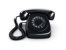 μαύρο τηλέφωνο περιστροφ&io Στοκ φωτογραφίες με δικαίωμα ελεύθερης χρήσης