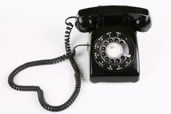μαύρο τηλέφωνο περιστροφ&io στοκ φωτογραφίες