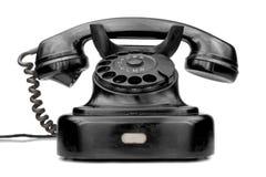μαύρο τηλεφωνικό λευκό ανασκόπησης στοκ φωτογραφία με δικαίωμα ελεύθερης χρήσης