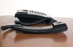 μαύρο τηλεφωνικό λευκό α&nu Στοκ εικόνα με δικαίωμα ελεύθερης χρήσης