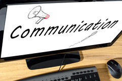 μαύρο τηλέφωνο δεκτών έννοιας επικοινωνίας Στοκ Εικόνες