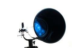 Μαύρο τηλεσκόπιο σε ένα άσπρο υπόβαθρο Προσοχή των αστεριών Στοκ Εικόνα