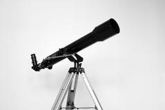 Μαύρο τηλεσκόπιο στο υπόβαθρο τοίχων Γραπτή φωτογραφία του Πεκίνου, Κίνα Στοκ φωτογραφία με δικαίωμα ελεύθερης χρήσης