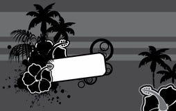 Μαύρο τροπικό υπόβαθρο της Χαβάης copyspace διανυσματική απεικόνιση