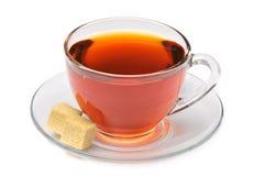 μαύρο τσάι ζάχαρης φλυτζαν& Στοκ εικόνες με δικαίωμα ελεύθερης χρήσης