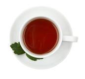 μαύρο τσάι φλυτζανιών Στοκ φωτογραφίες με δικαίωμα ελεύθερης χρήσης