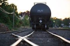 Μαύρο υγρό βαγόνι εμπορευμάτων μεταφορών στοκ εικόνα
