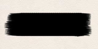 Μαύρο υδατόχρωμα βουρτσών χρωμάτων κτυπήματος στοκ εικόνα