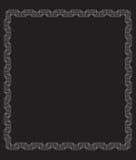 Μαύρο υπόβαθρο, άσπρο πλαίσιο γραμμών του τετραγώνου στο Μαύρο απεικόνιση αποθεμάτων