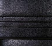Μαύρο υπόβαθρο δέρματος με τα περιθώρια, τραχύ σχέδιο Στοκ Εικόνες