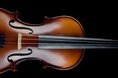 Μαύρο υπόβαθρο βιολιών Στοκ Εικόνα