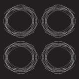 Μαύρο υπόβαθρο, κύκλος ως μορφή φωλιών ελεύθερη απεικόνιση δικαιώματος