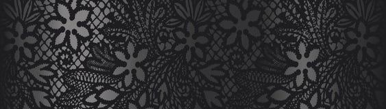 Μαύρο υπόβαθρο με τη δαντέλλα Στοκ φωτογραφία με δικαίωμα ελεύθερης χρήσης