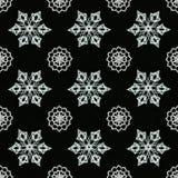 Μαύρο υπόβαθρο με snowflakes Στοκ Φωτογραφίες