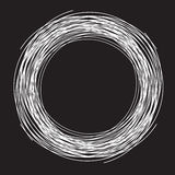 Μαύρο υπόβαθρο, μορφή φωλιών circleas απεικόνιση αποθεμάτων