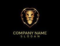 Μαύρο υπόβαθρο λογότυπων λιονταριών Στοκ εικόνα με δικαίωμα ελεύθερης χρήσης