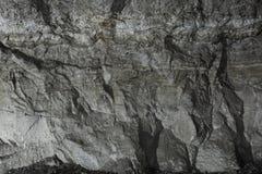 Μαύρο υπόβαθρο πετρών τοίχων Στοκ Εικόνα