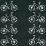 Μαύρο υπόβαθρο πινάκων Διανυσματική συρμένη χέρι απεικόνιση του ποδηλάτου πόλεων στο μελάνι Ποδήλατο με βήμα-μέσω του πλαισίου Χέ Στοκ εικόνες με δικαίωμα ελεύθερης χρήσης
