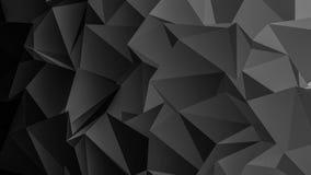 Μαύρο υπόβαθρο πολυγώνων Στοκ Φωτογραφία