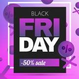 Μαύρο υπόβαθρο πώλησης Παρασκευής Διανυσματική απεικόνιση πώλησης Στοκ φωτογραφίες με δικαίωμα ελεύθερης χρήσης
