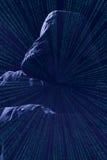 Μαύρο υπόβαθρο σκιαγραφιών χάκερ Στοκ Εικόνες